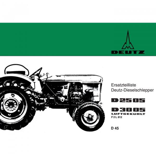 Deutz - Betriebsanleitung D4005 (Motor: F3L812, Getriebe: TW35.1)